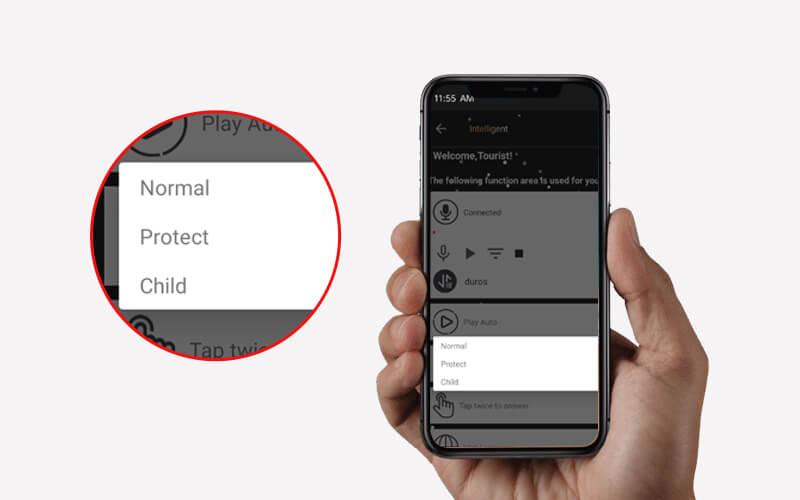 APP has three modes for listening